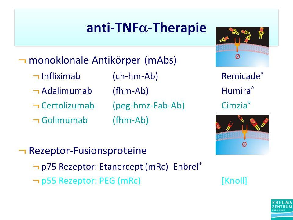 anti-TNF-Therapie monoklonale Antikörper (mAbs)