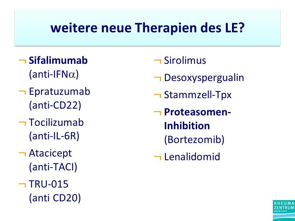 weitere neue Therapien des LE