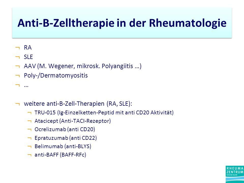 Anti-B-Zelltherapie in der Rheumatologie