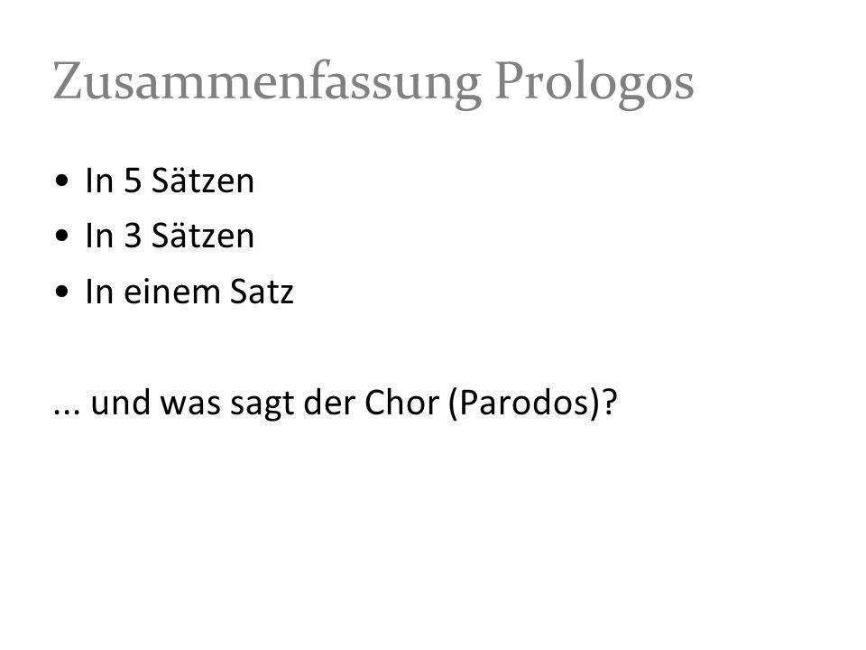 Zusammenfassung Prologos