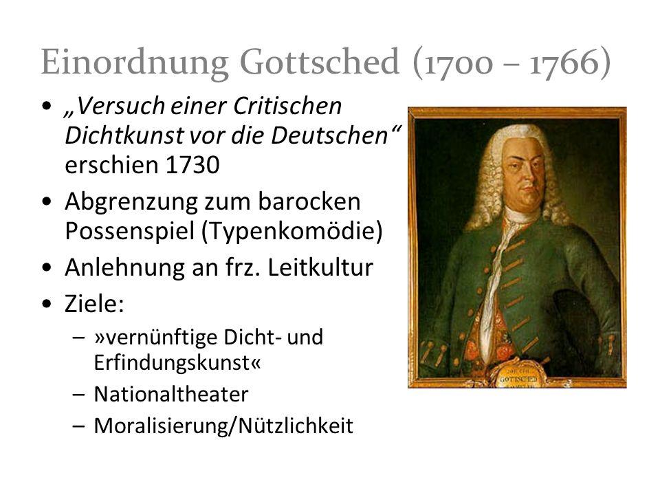 Einordnung Gottsched (1700 – 1766)