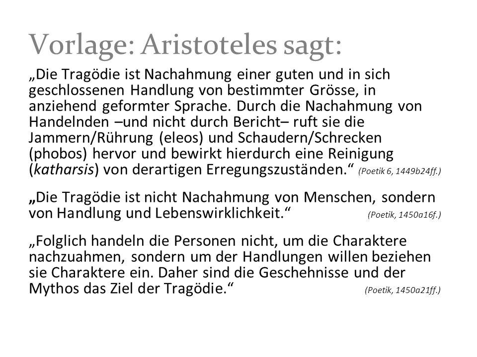 Vorlage: Aristoteles sagt: