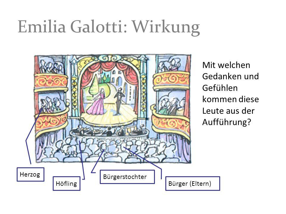 Emilia Galotti: Wirkung