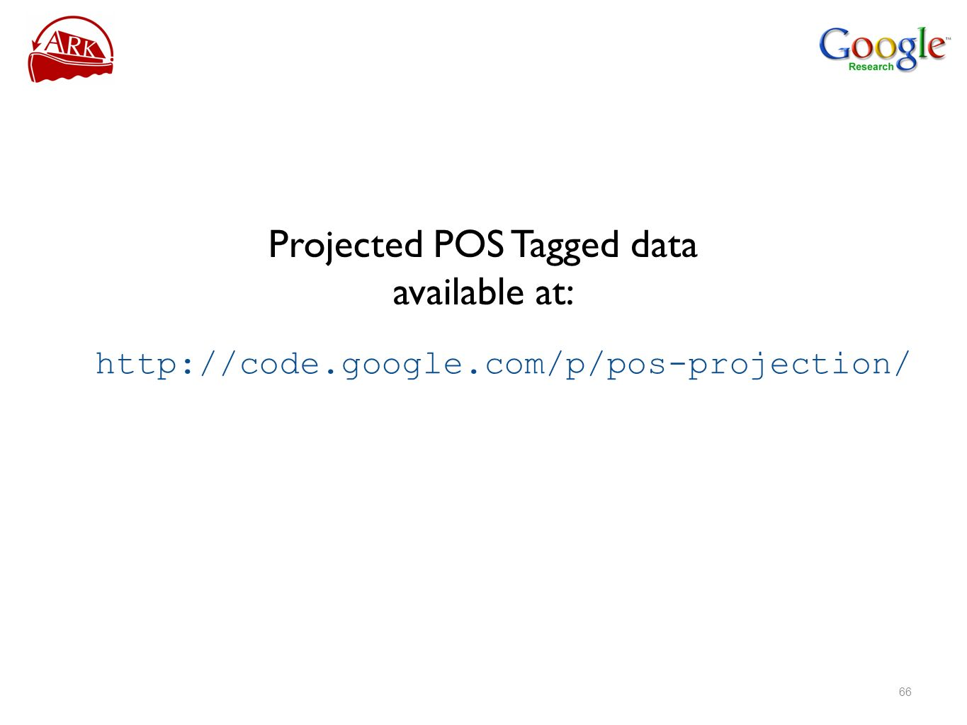 Projected POS Tagged data