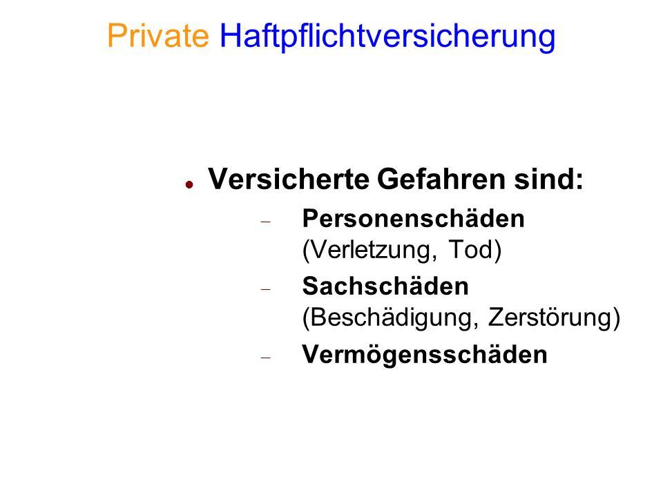 Private Haftpflichtversicherung