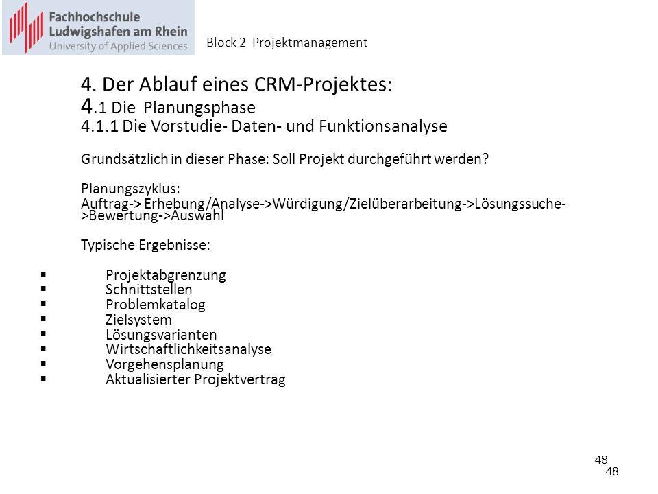 4.1 Die Planungsphase 4.1.1 Die Vorstudie- Daten- und Funktionsanalyse