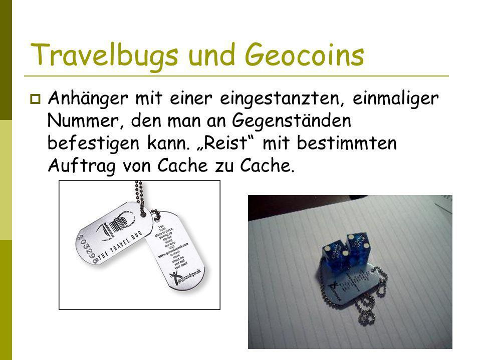 Travelbugs und Geocoins