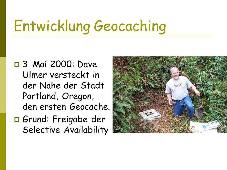 Entwicklung Geocaching