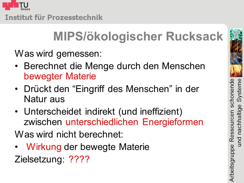 MIPS/ökologischer Rucksack