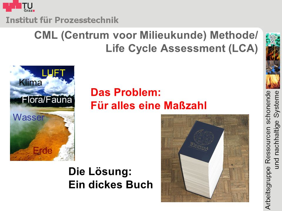 CML (Centrum voor Milieukunde) Methode/ Life Cycle Assessment (LCA)