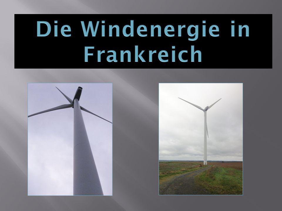 Die Windenergie in Frankreich
