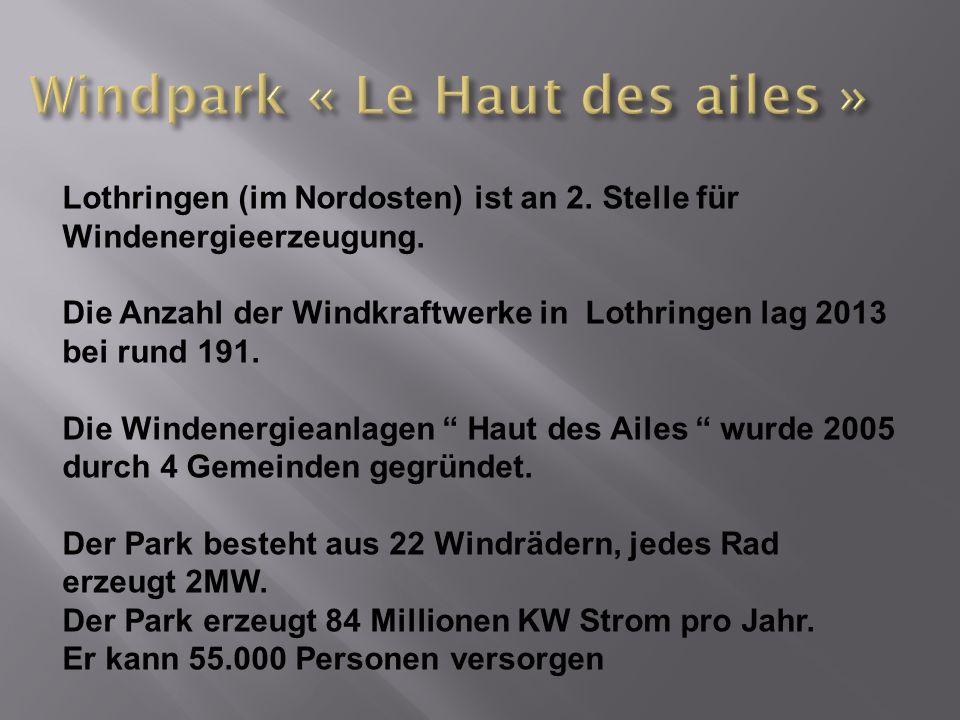Windpark « Le Haut des ailes »