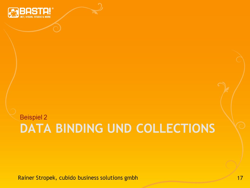 Data Binding und Collections