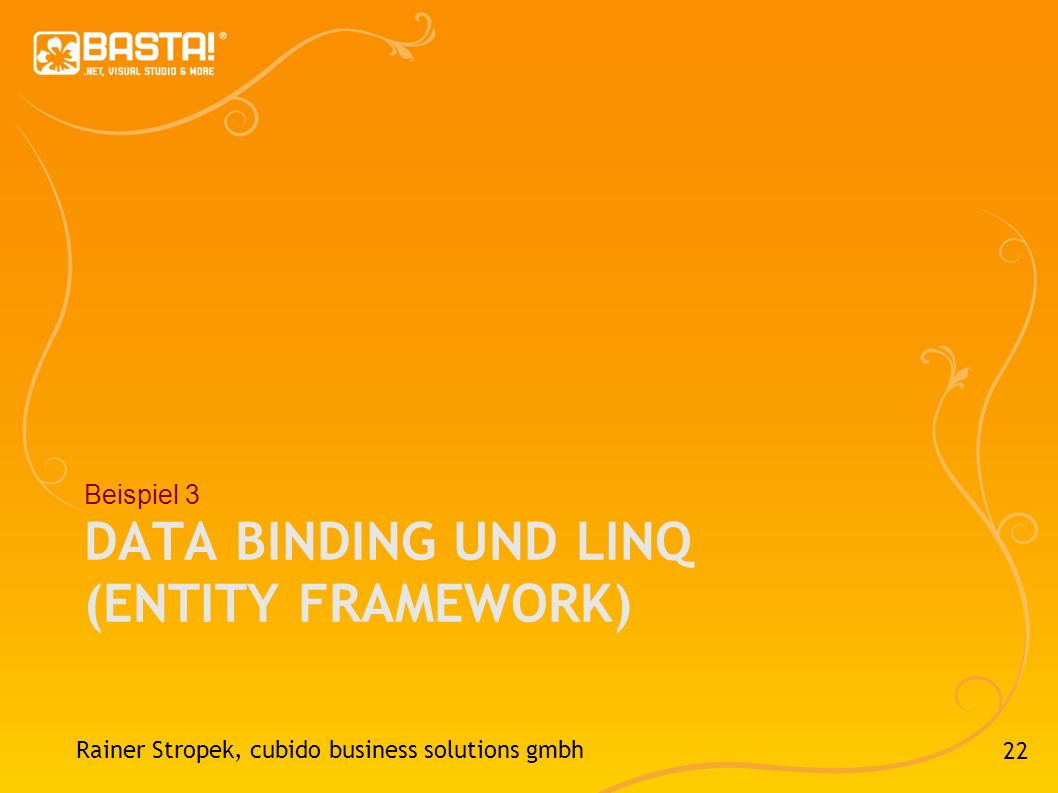 Data Binding und Linq (Entity Framework)