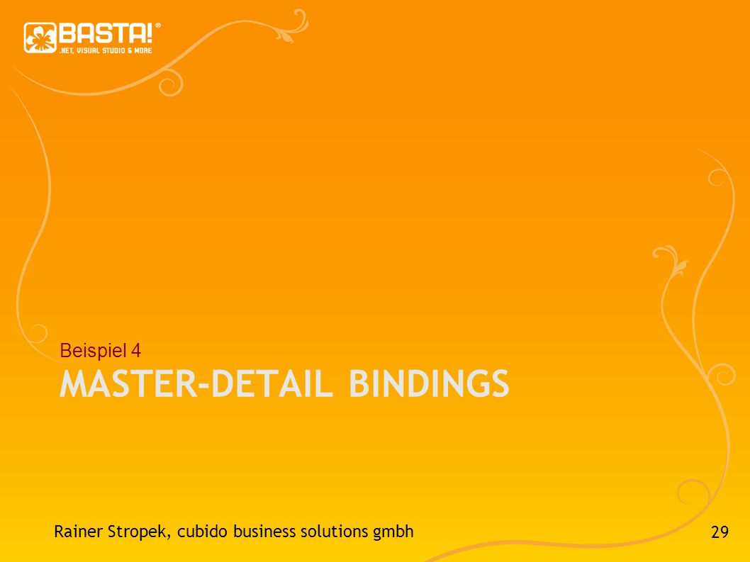 Master-Detail Bindings