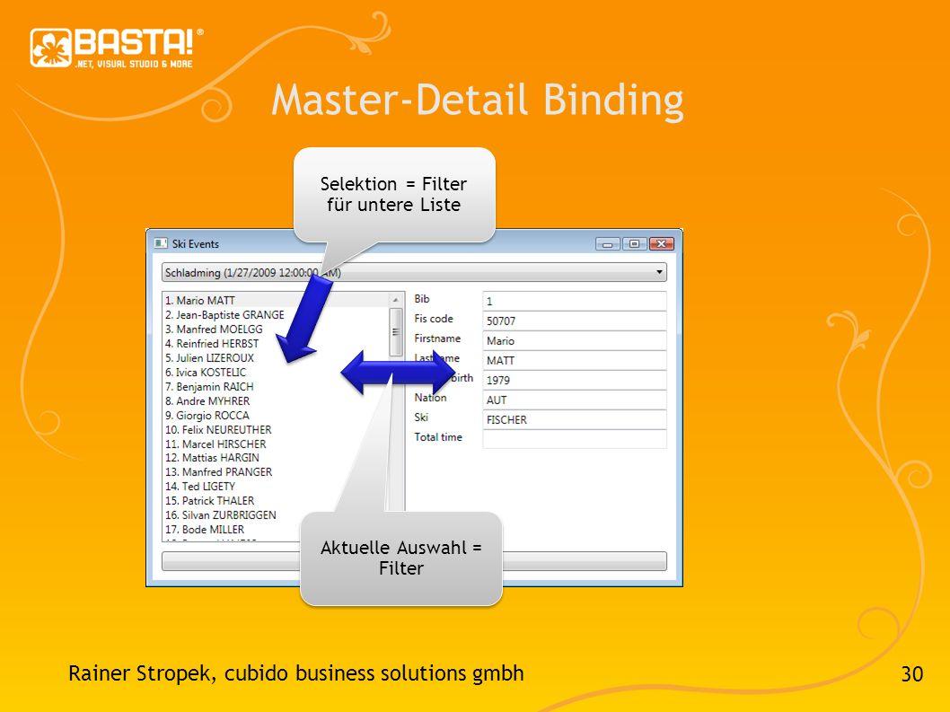 Master-Detail Binding