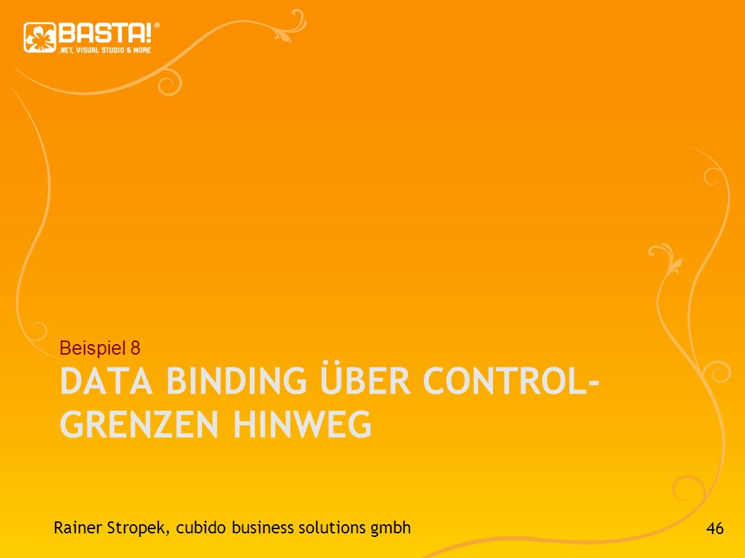 Data Binding über Control-Grenzen hinweg