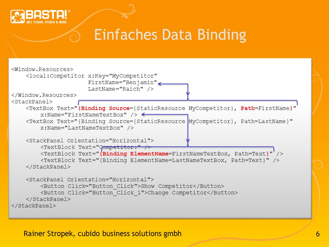 Einfaches Data Binding