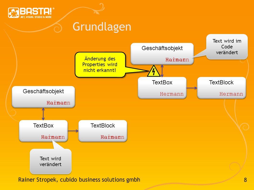 Grundlagen Geschäftsobjekt Hermann Rainer TextBox TextBlock