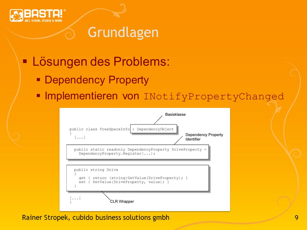 Grundlagen Lösungen des Problems: Dependency Property