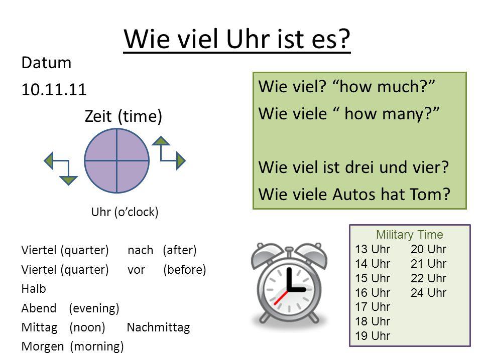 Wie viel Uhr ist es Datum 10.11.11 Zeit (time)