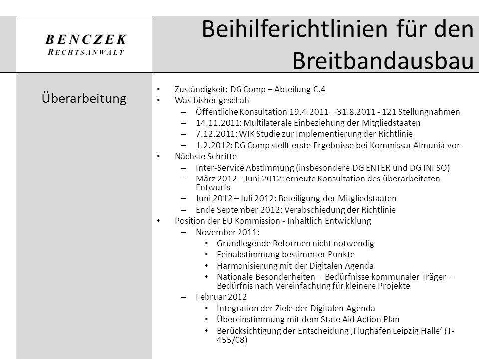 Beihilferichtlinien für den Breitbandausbau