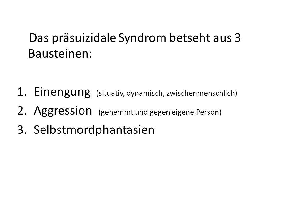 Das präsuizidale Syndrom betseht aus 3 Bausteinen: