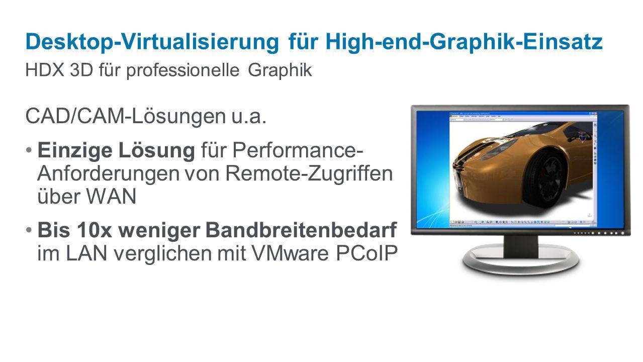 Desktop-Virtualisierung für High-end-Graphik-Einsatz