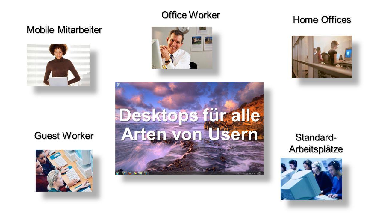 Desktops für alle Arten von Usern