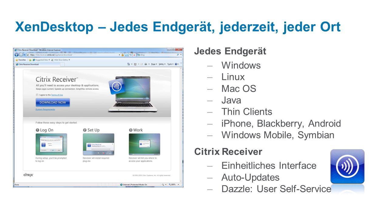 XenDesktop – Jedes Endgerät, jederzeit, jeder Ort