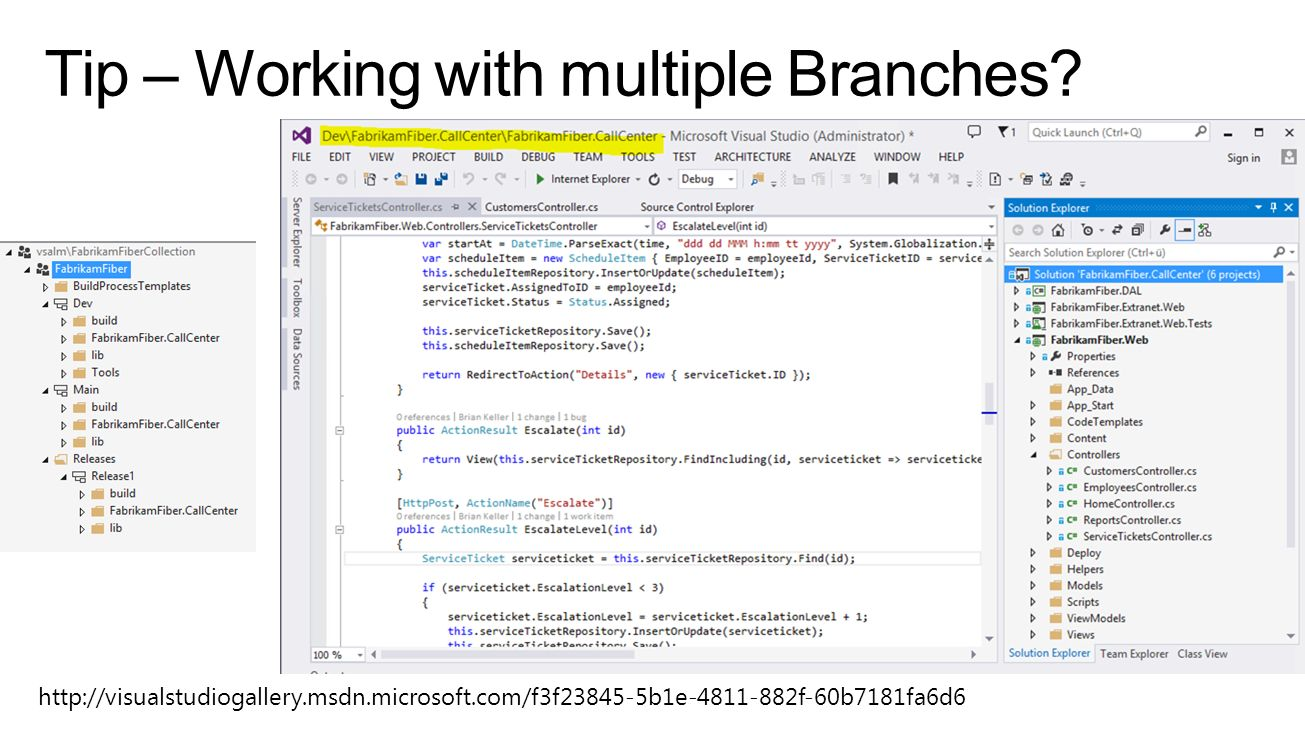 Tip – Working with multiple Branches