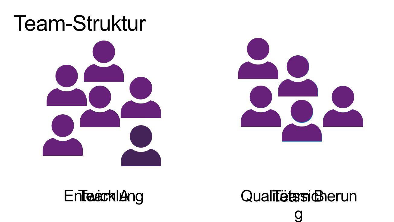 Team-Struktur Team A Entwicklung Team B Qualitätssicherung 3/28/2017