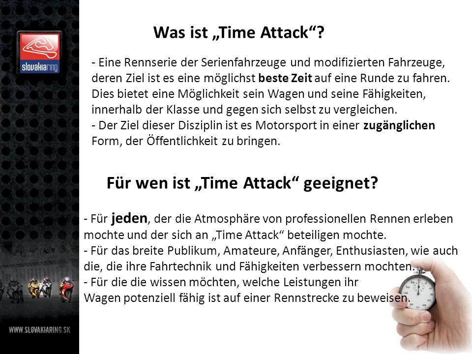"""Für wen ist """"Time Attack geeignet"""