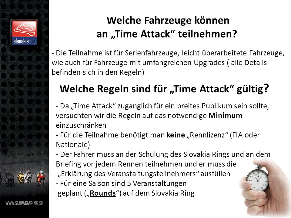 """Welche Regeln sind für """"Time Attack gültig"""