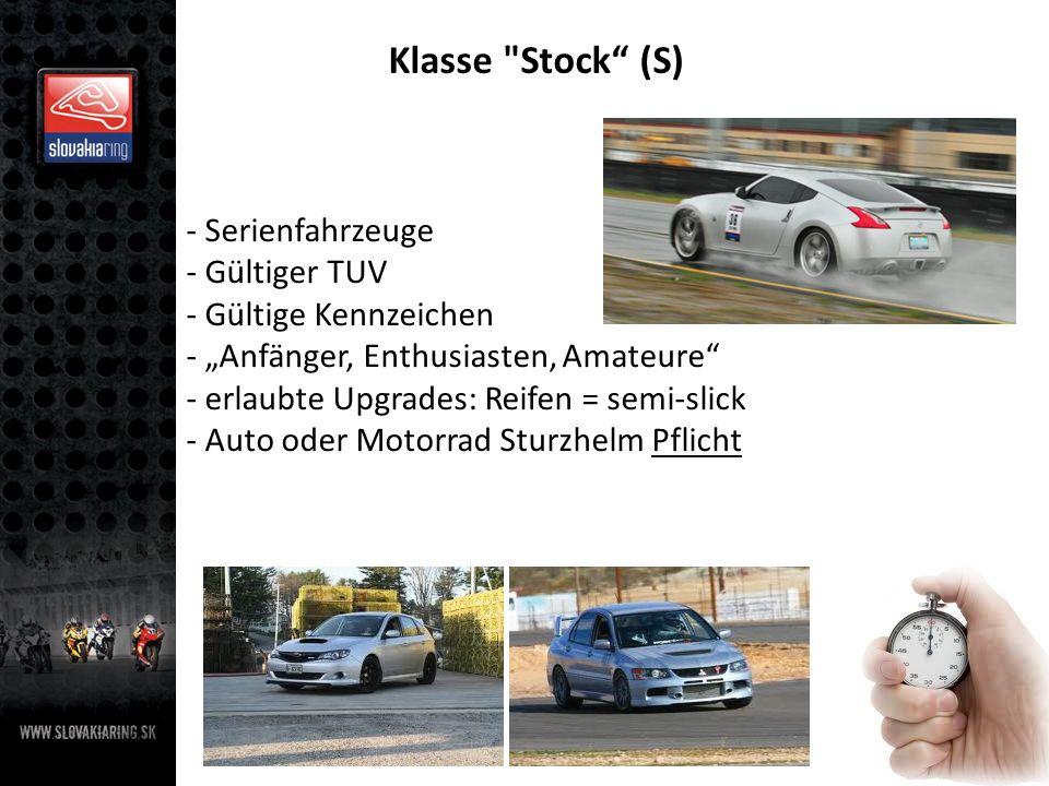 Klasse Stock (S) Serienfahrzeuge Gültiger TUV Gültige Kennzeichen