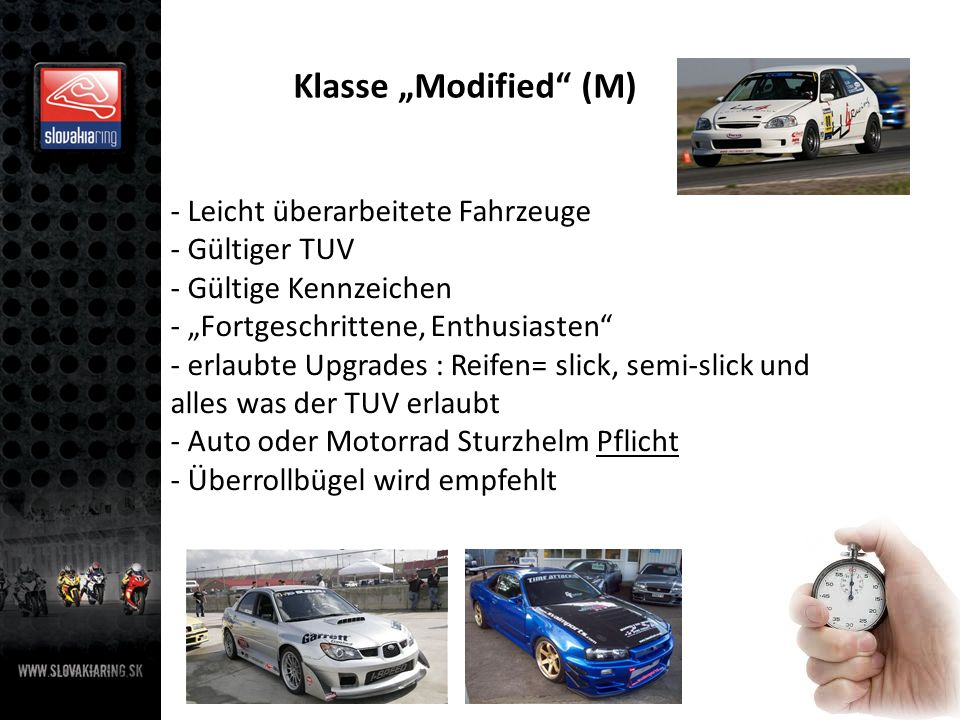 """Klasse """"Modified (M) Leicht überarbeitete Fahrzeuge Gültiger TUV"""
