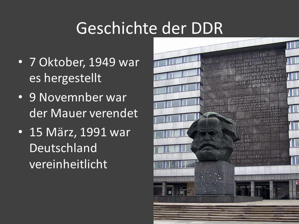 Geschichte der DDR 7 Oktober, 1949 war es hergestellt