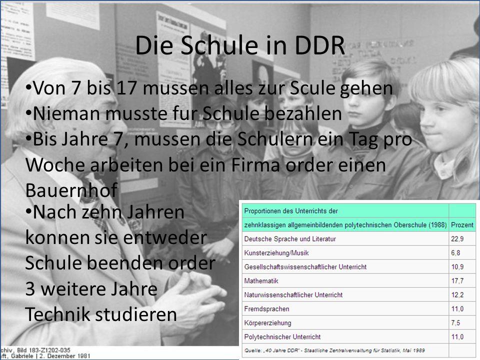 Die Schule in DDR Von 7 bis 17 mussen alles zur Scule gehen