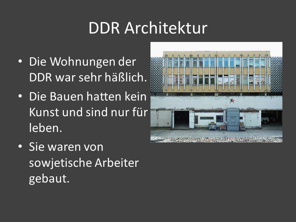 DDR Architektur Die Wohnungen der DDR war sehr häßlich.
