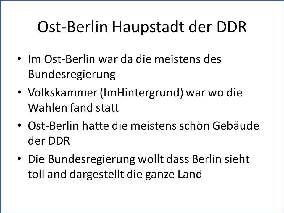 Ost-Berlin Haupstadt der DDR