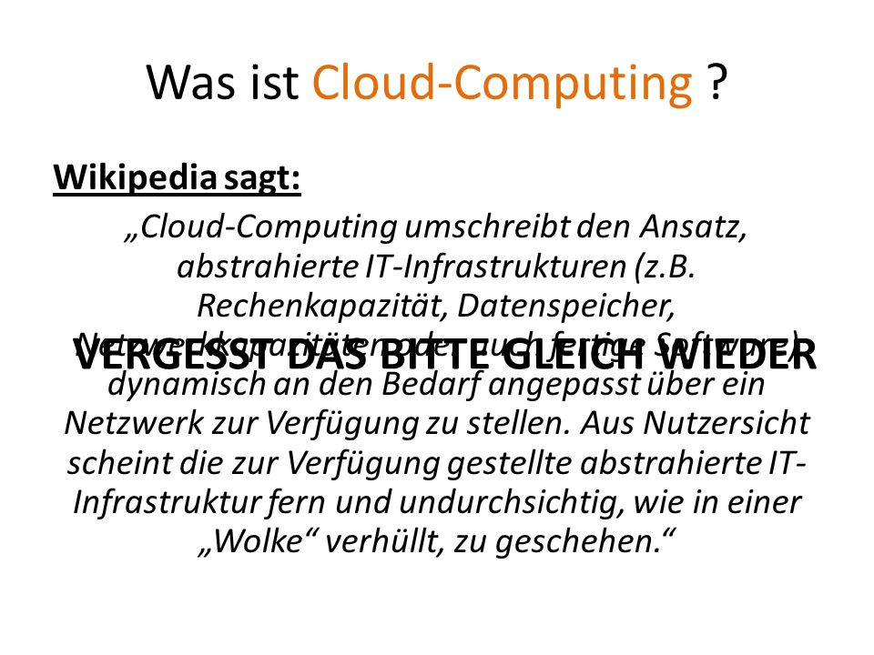 Was ist Cloud-Computing