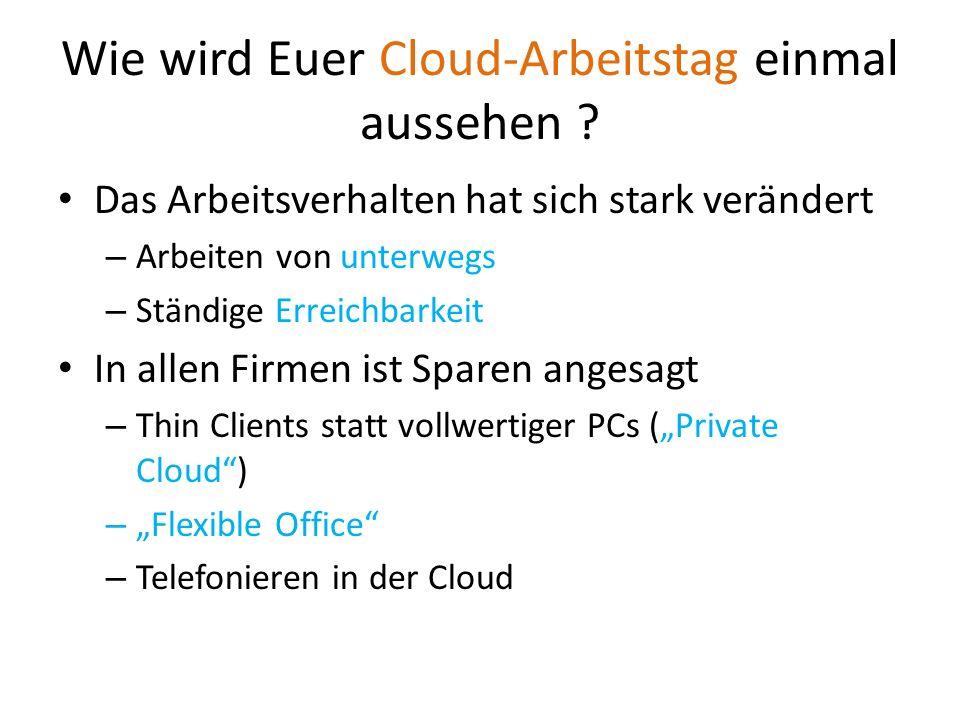 Wie wird Euer Cloud-Arbeitstag einmal aussehen