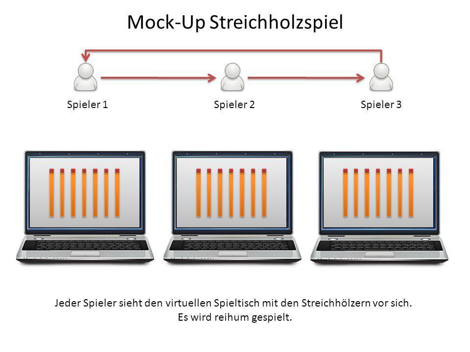 Mock-Up Streichholzspiel