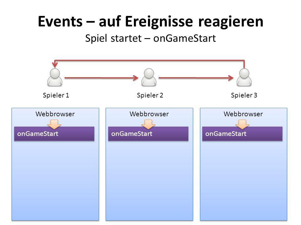 Events – auf Ereignisse reagieren Spiel startet – onGameStart