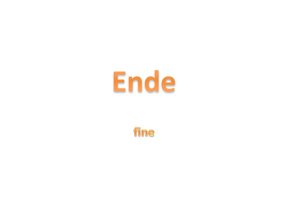 Ende fine