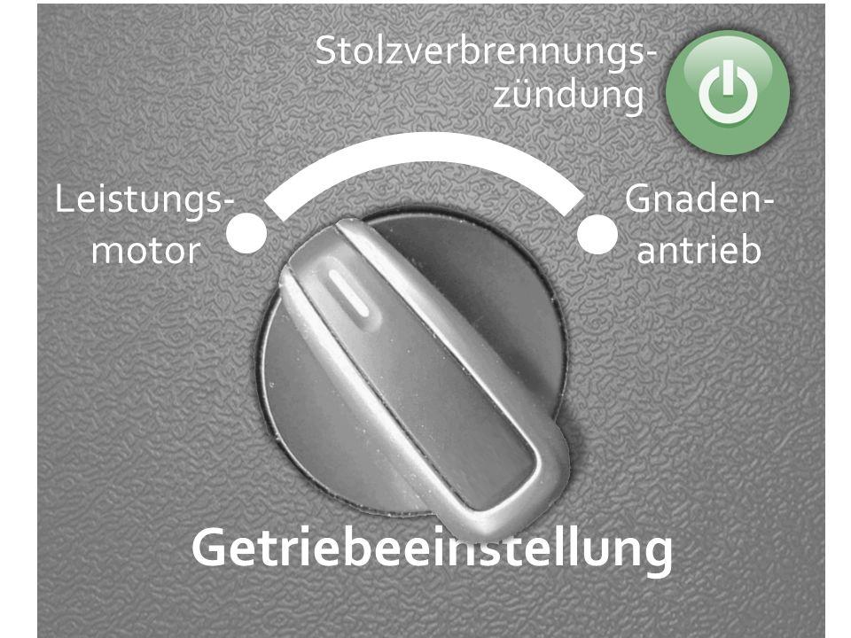 Getriebeeinstellung Stolzverbrennungs- zündung Leistungs- motor
