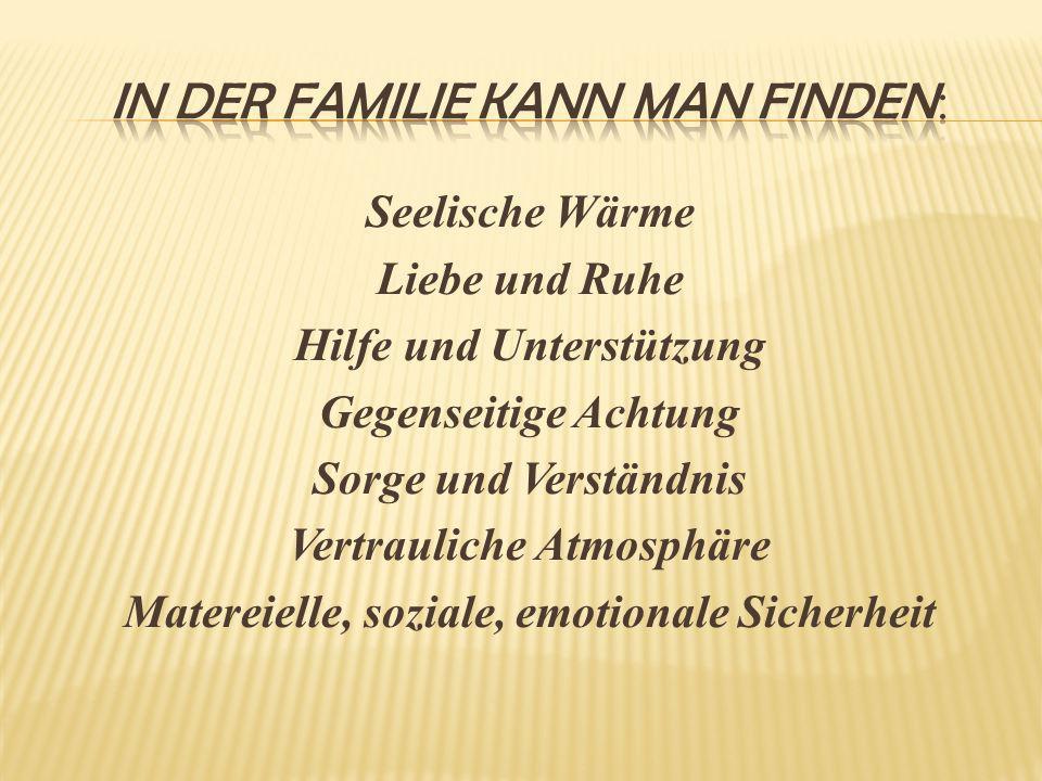 In der familie kann man finden: