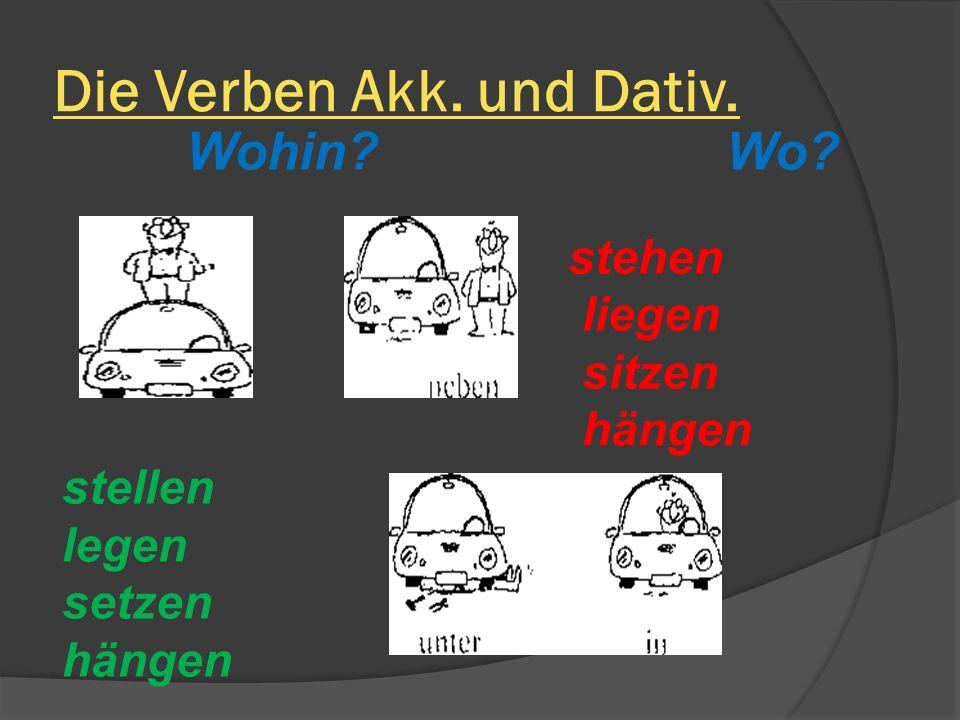 Die Verben Akk. und Dativ.