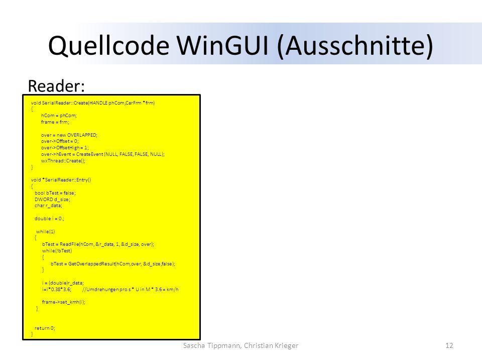 Quellcode WinGUI (Ausschnitte)