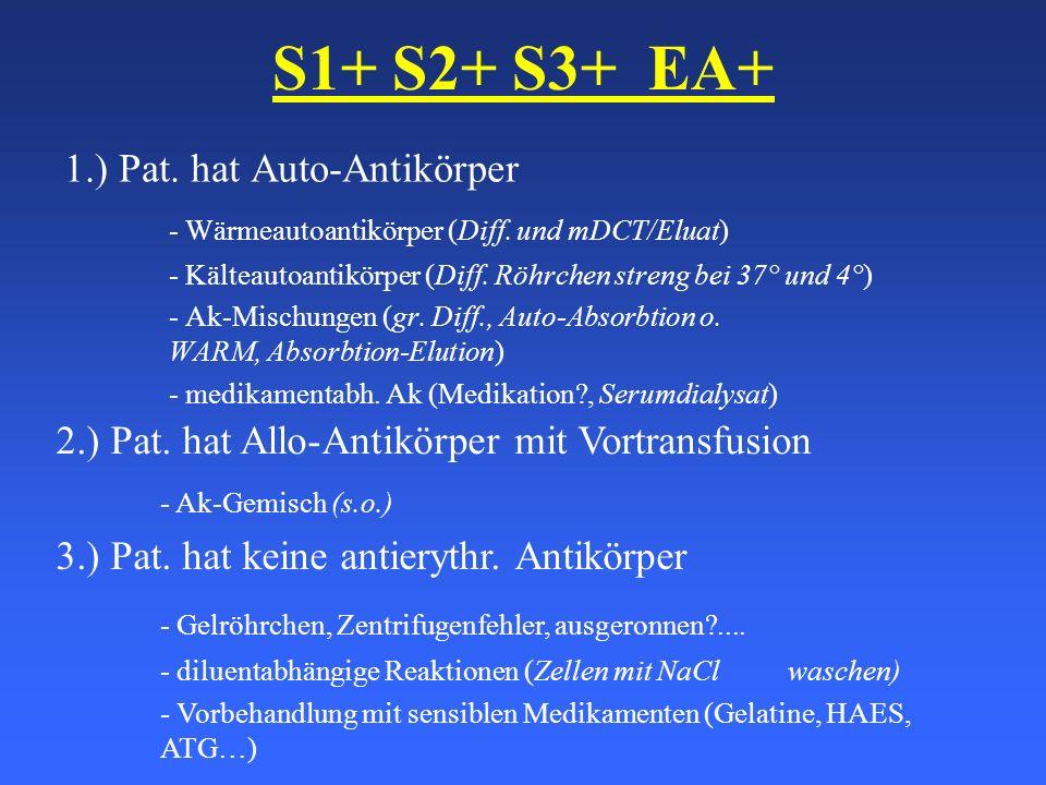 S1+ S2+ S3+ EA+ - Gelröhrchen, Zentrifugenfehler, ausgeronnen ....